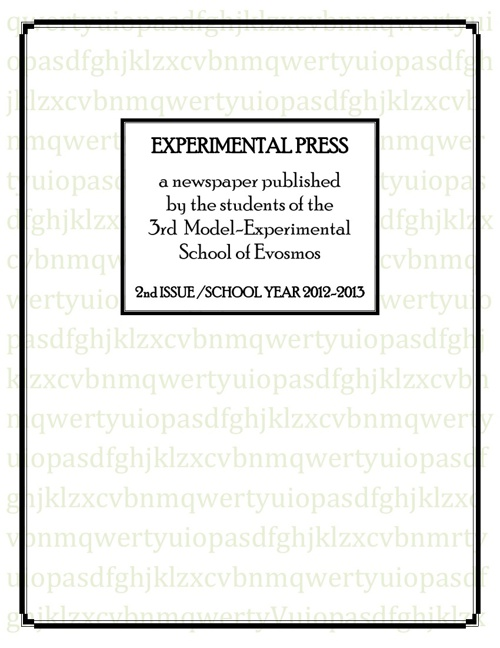 EXPERIMENTAL PRESS-2nd ISSUE