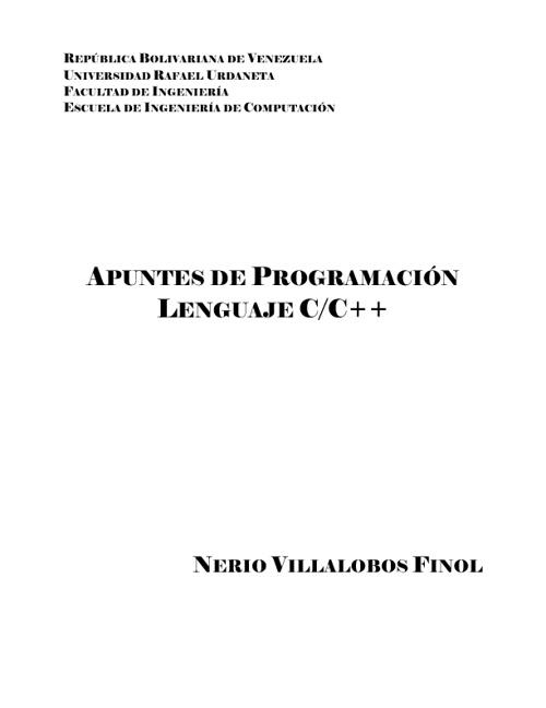 Apuntes de Programación