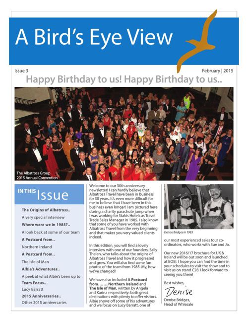 The 3rd edition of A Bird's Eye View