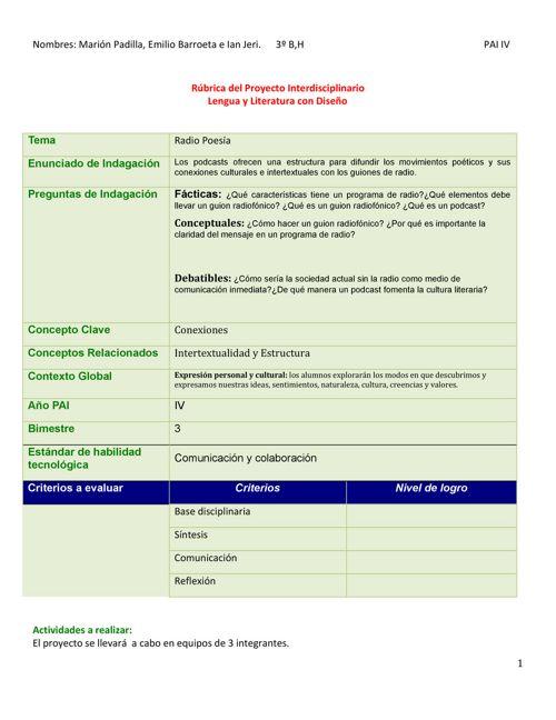 Copia de Copia de Rúbrica Interdisciplinario.docx.docx - Docume