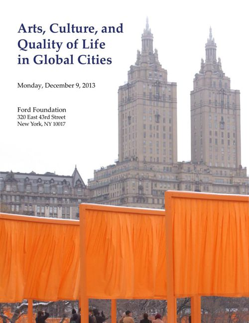 Arts, Culture, and Quality of Life in Global Cities Report