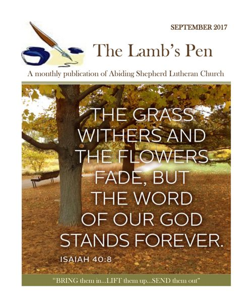 The Lambs Pen September 2017