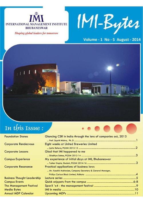 IMI-Bytes Vol 5 Aug 2014