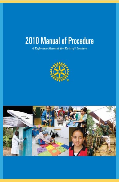 2010 Manual of Procedure