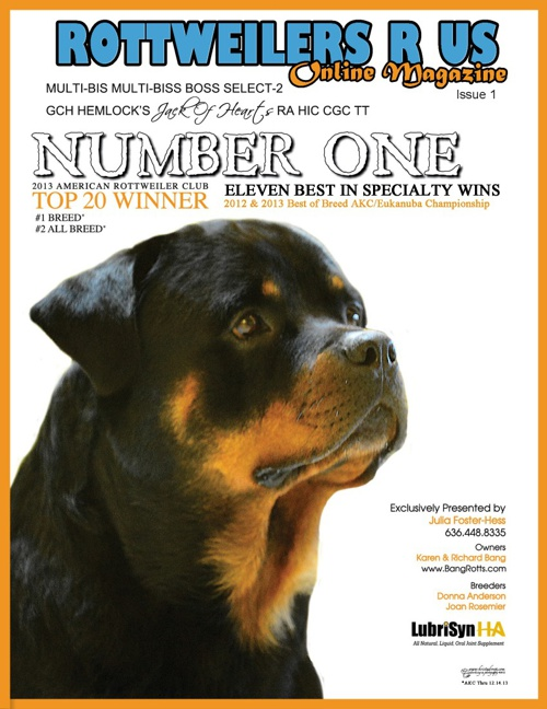 Rottweilers R Us Online Magazine - Issue 1 January 2014