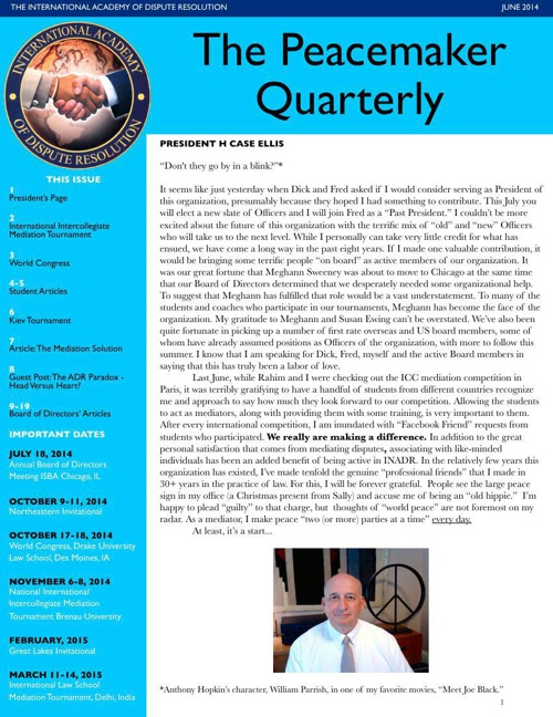 Peacemaker Quarterly May 2014 -revised