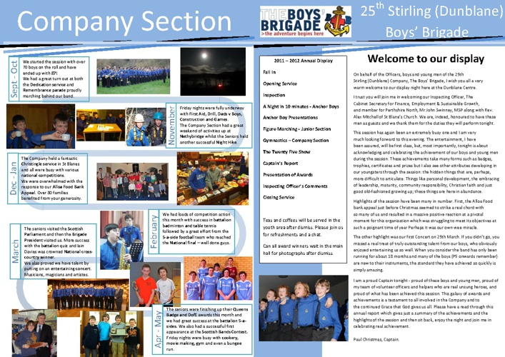 Dunblane BB Review of the Year 2011/12