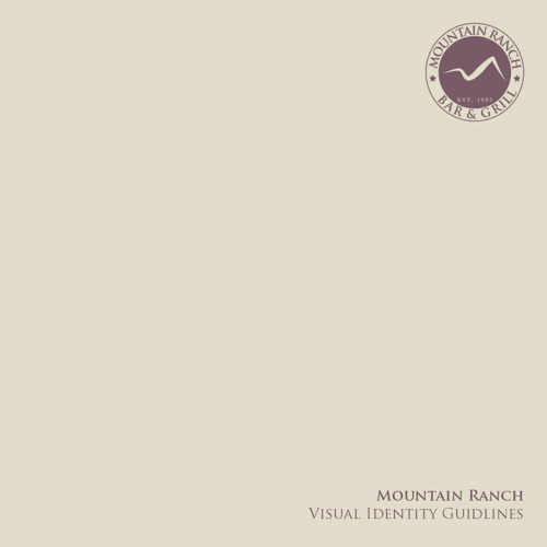 Mountain ranch - Visual identity manual