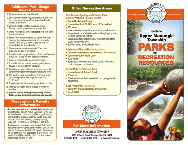 UMT Parks Brochure