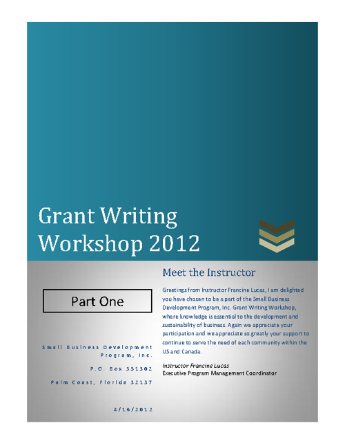 Grant Writing Workshop