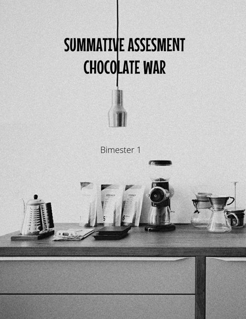 Summative Assesment Chocolate war