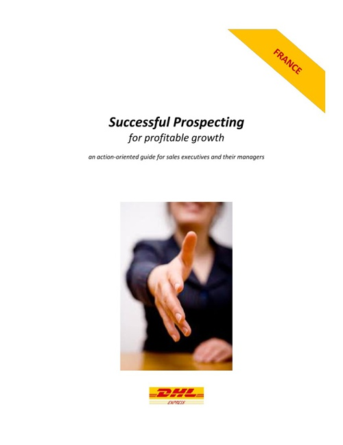 Successful Prospecting for Profitable Growth English for FR 29 A