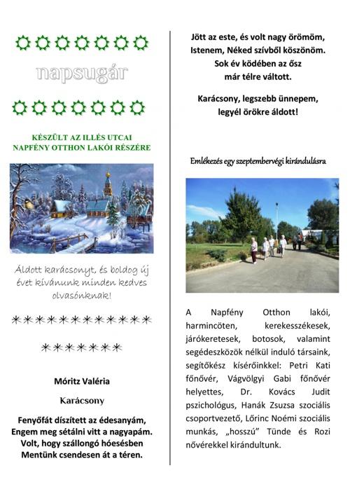 Napsugár újság - 2011. téli szám