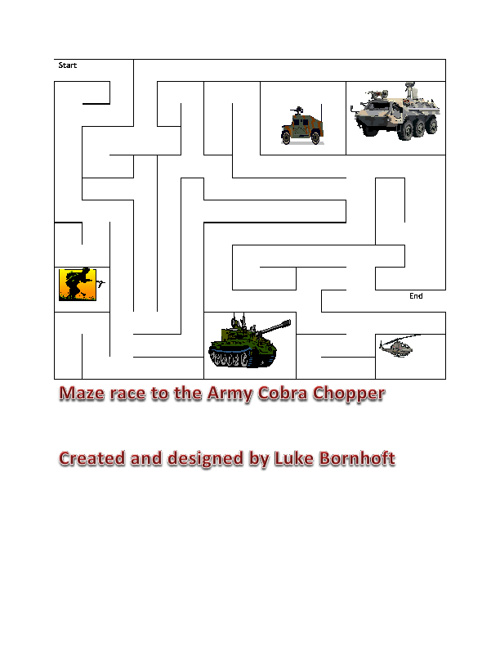 2012 7th Grade Maze Book
