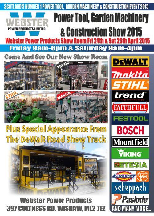 Power Tool, Garden Machinery & Construction Show 2015