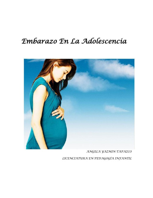 Copy of Embarazo En La Adolescencia