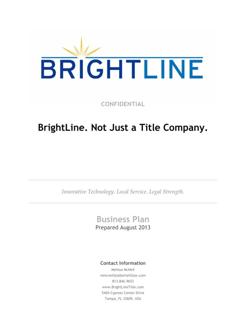 BrightLine Overview DRAFT 1