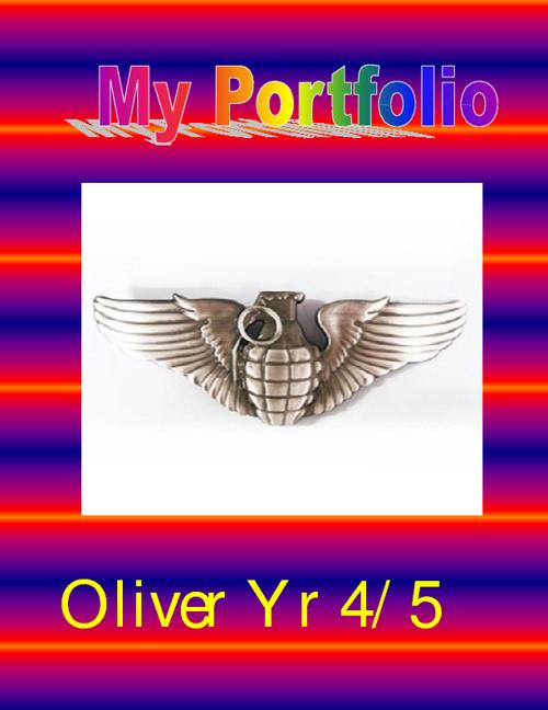 My Portfolio. Oliver. Year 5