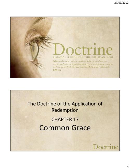 Chapter 17 - Common Grace