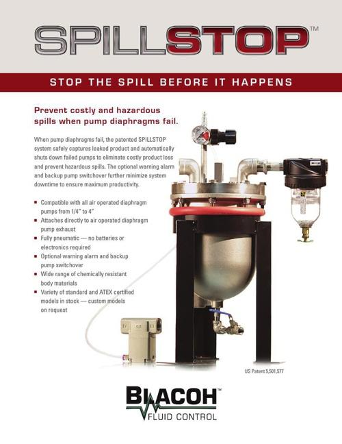 Blacoh Spillstop Brochure