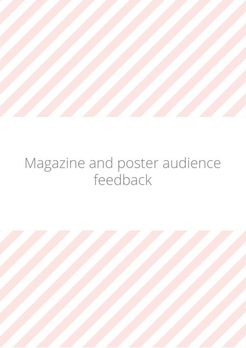 Magazine and poster audience feedback