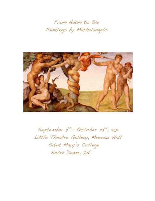 From Adam to Eve, Paintings by Michelangelo