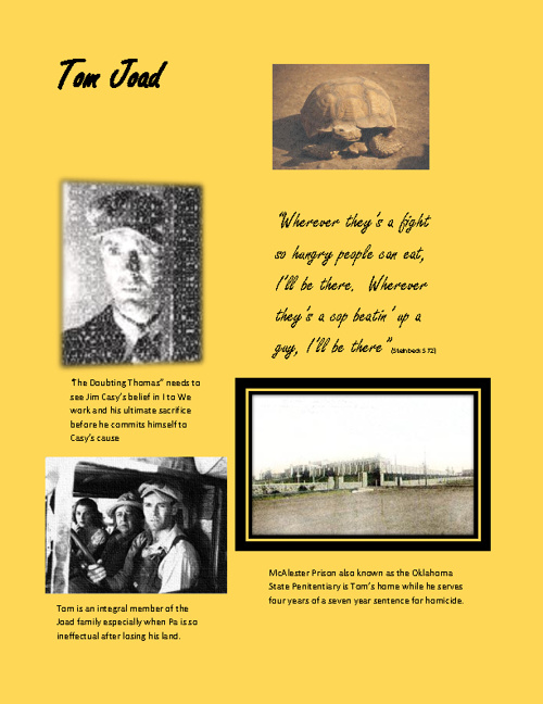 Grapes of Wrath Scrapbook Sample