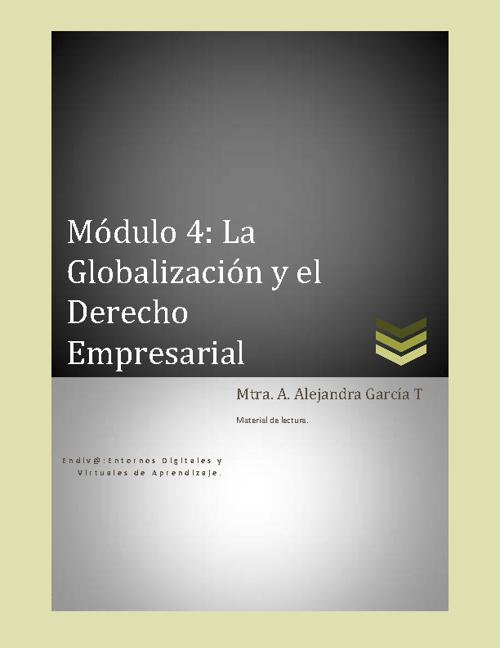Módulo 4 Derecho Corporativo