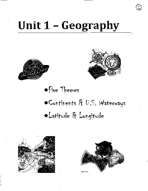 iNotes Geography Part I