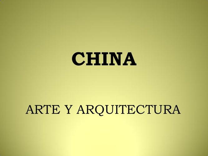 ARQUITECTURA CHINA.