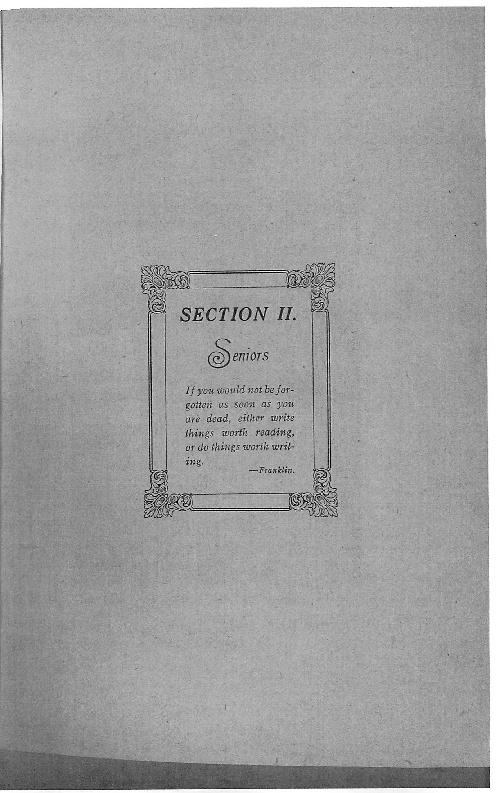 OHS 1916 Yearbook - Seniors