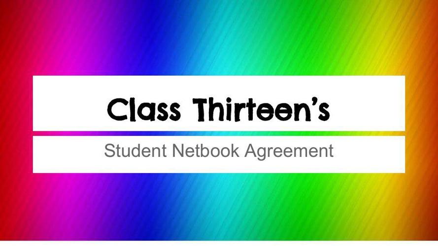 Adrienne Class 13's Student Netbook Agreement