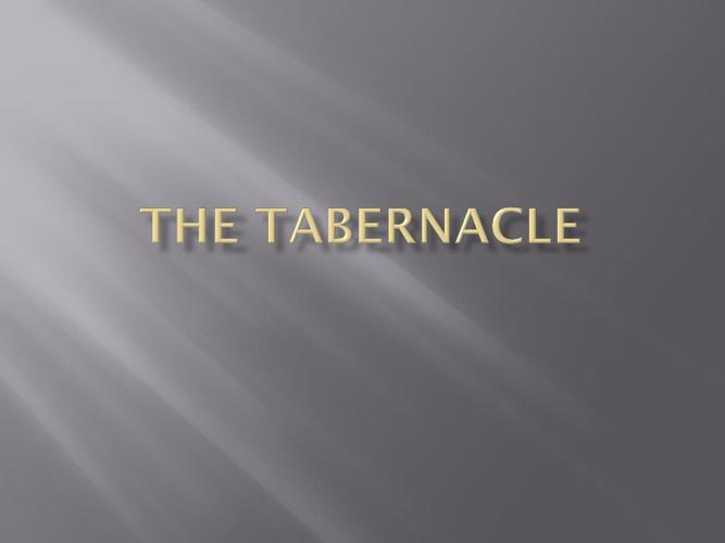 Tabernacle flip