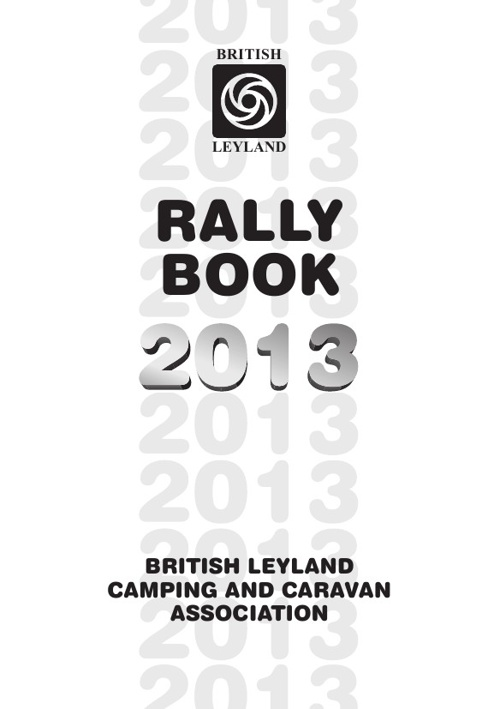 B.L Rally Book 2013