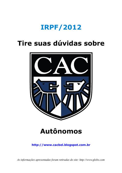 IR 2012 - Autônomos