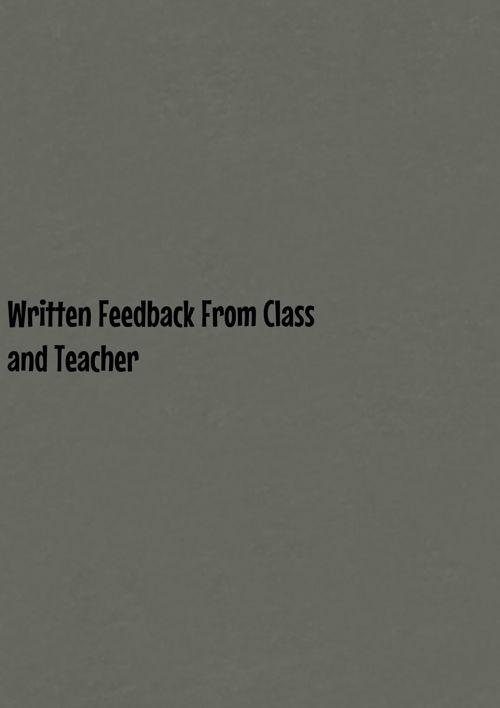 Written Feedback E block