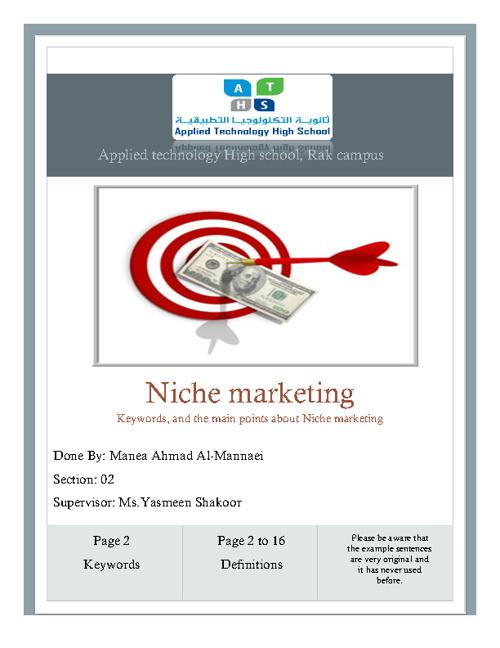 Niche Marketing Keywords