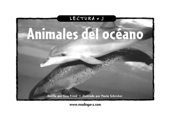 Libro: Animales del océano