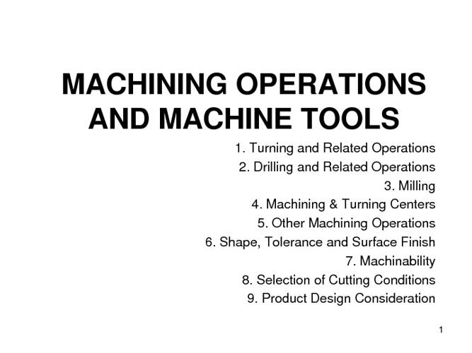 operations CNC