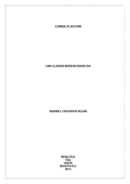 """322976 Consulta 1 Access """"Lina Claudia Moreno Mahecha"""""""