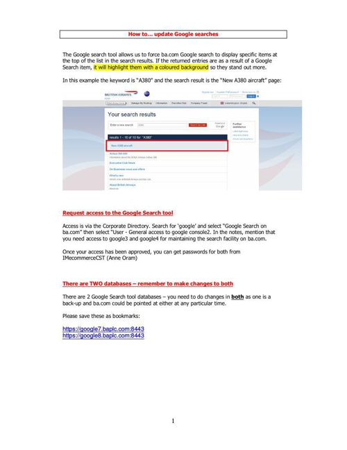 How to ... update and add Google searches updated 041114