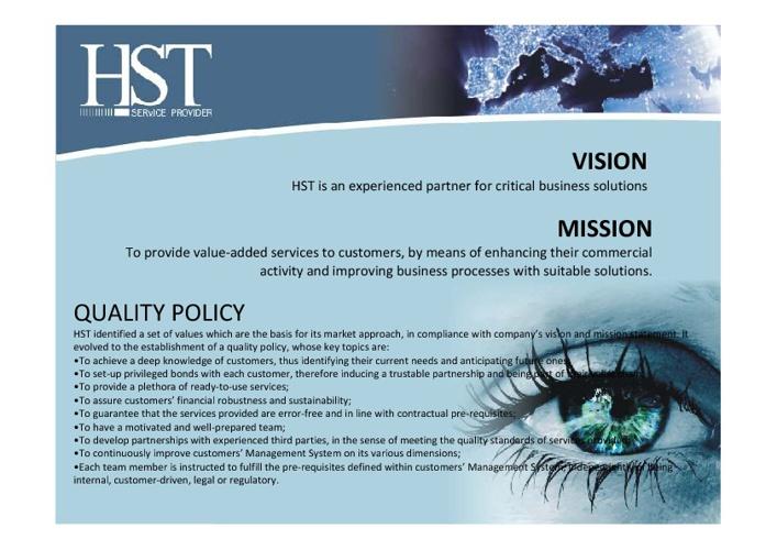 HST the service provider