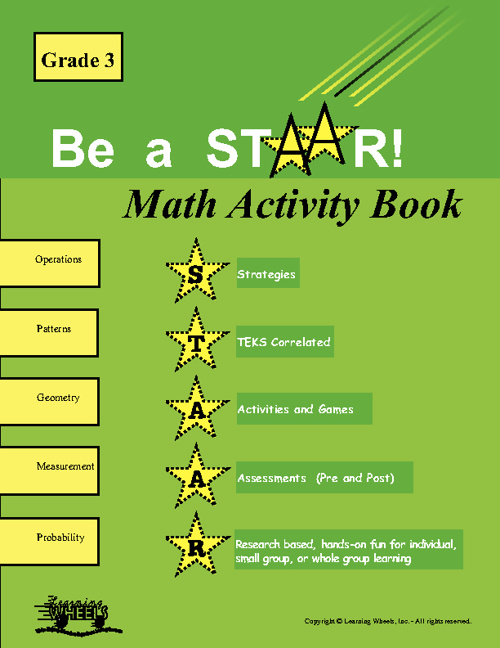 Sample of 3rd Grade STAAR Math Activity Book