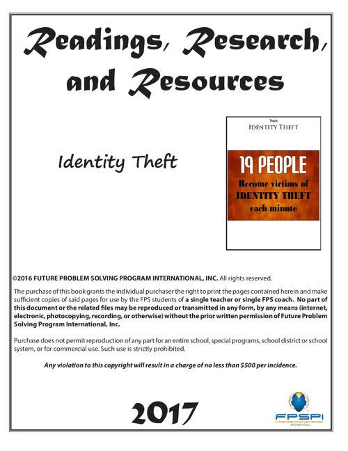 2016-17 RRR Identity Theft