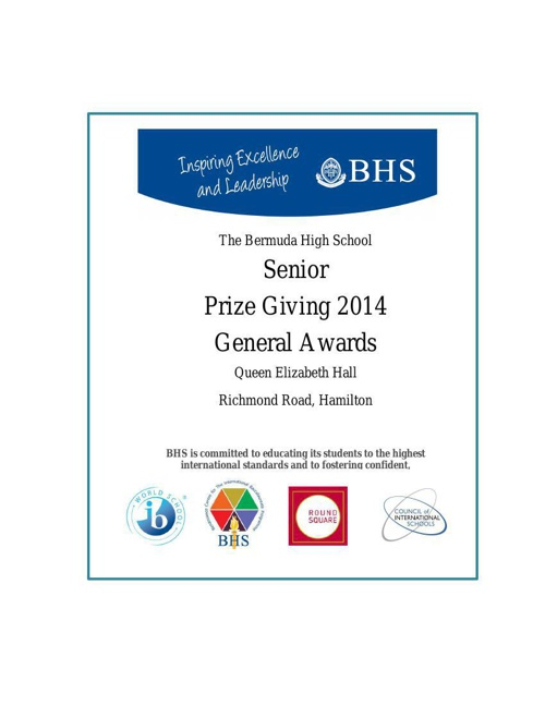 Senior Prize Giving General Awards