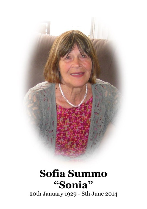 4 Order of Service for Sofia Summo