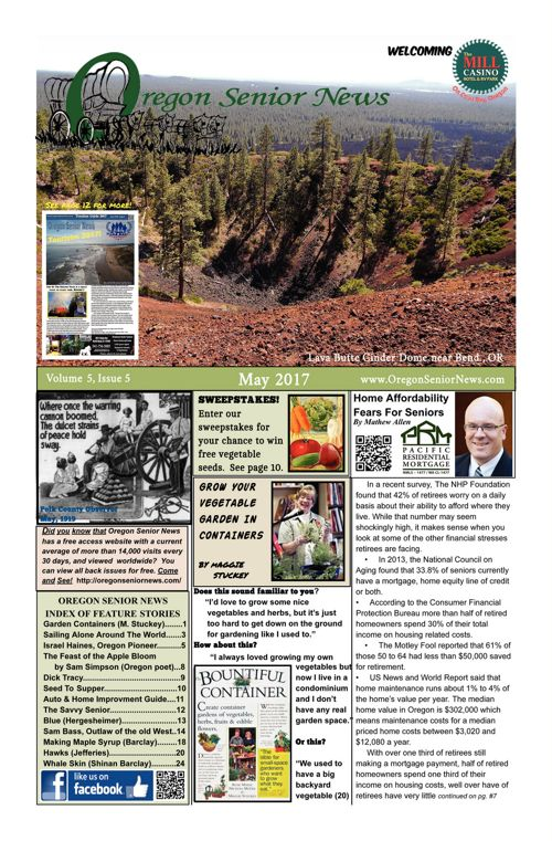 Oregon Senior News May 2017 E-edition