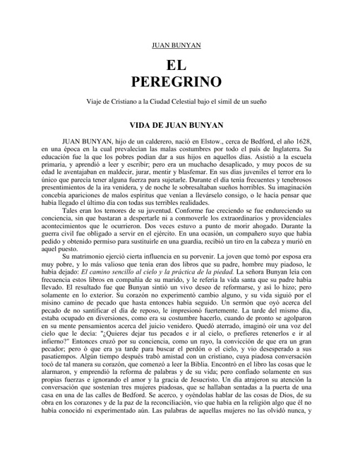 El Peregrino- John Bunyan