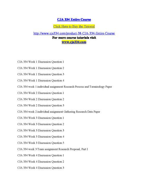 CJA 334 Entire Course
