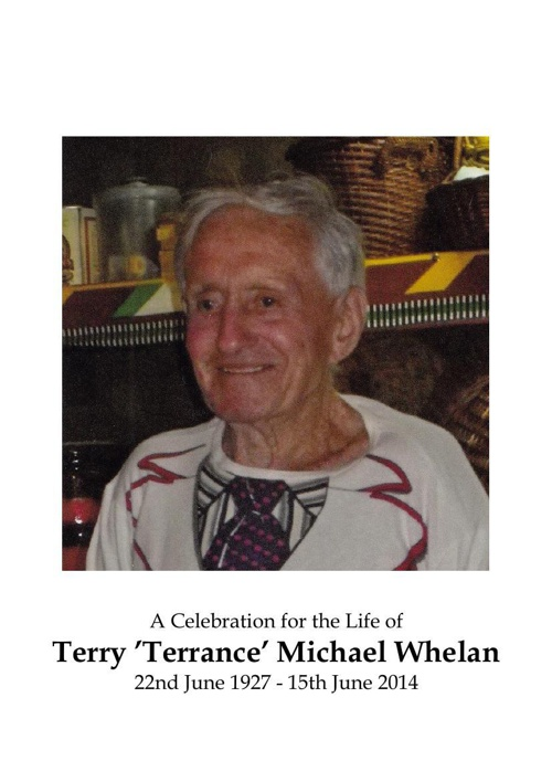 4 Order of Service for Terry Whelan